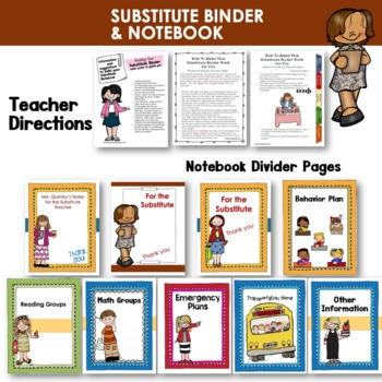 Substitute Notebook- [Editable] - Dividers and Resource Pages