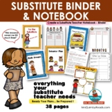 Substitute Notebook    [Editable]   Dividers and Resource Pages