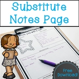 Substitute Notes Page
