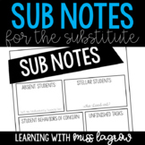 Substitute Notes Report Sheet