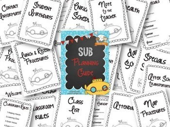 Substitute Organization Guide {Customize it!}