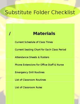 Substitute Packet