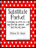 Substitute Packet - Dr. Seuss
