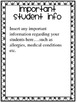 Substitute Packet- EDITABLE