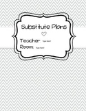 Substitute Plan Templates [Chevron Bundle] - Editable