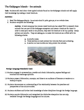 Substitute Plans--Animals of Galapagos Islands