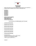 Substitute Plans Editable Template