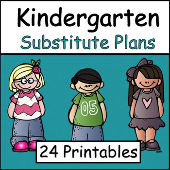 Substitute Plans: Kindergarten