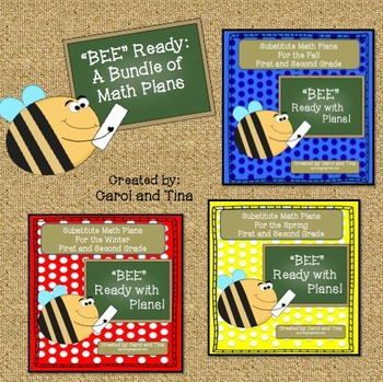 Substitute Plans: Math Bundle for Primary Classrooms