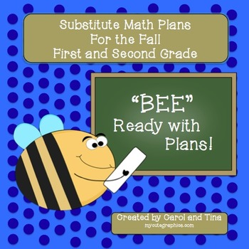 Substitute Plans: Math Plans for Primary Classrooms-Matches Fall Skill Levels