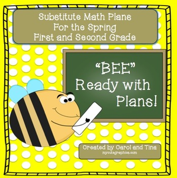 Substitute Plans: Math Plans for Primary Classrooms-Matches Spring Skill Levels