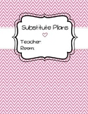 Substitute Plan Template [Pink] - Editable