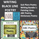 Substitute Plans Poetry Writing Bundle 1, Creative Writing, Visual Arts, Fun