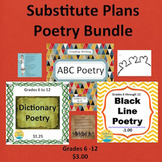 Substitute Plans Poetry Writing Bundle 1, Creative Writing