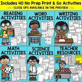 2nd Grade Substitute Plans | Sub Plans SECOND GRADE| NO PREP