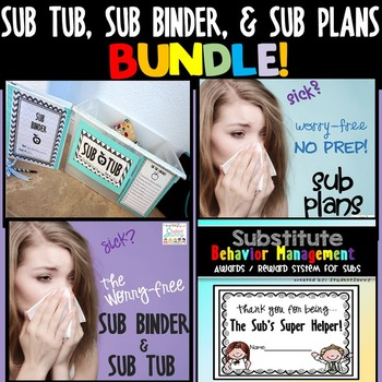 Substitute Plans, Sub Tub, and Binder