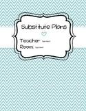 Substitute Plan Template [Teal] - Editable