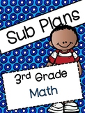 Substitute Plans for 3rd Grade Math