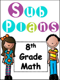 Substitute Plans for 7th and 8th Grade Math