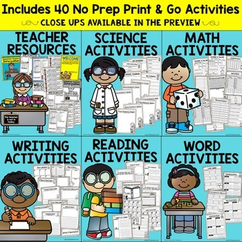 4th grade Substitute Plans | Sub Plans FOURTH GRADE | NO PREP
