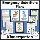 Emergency Substitute Lesson Plans for Kindergarten