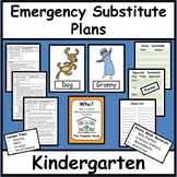 Emergency Substitute Lesson Plans for Kindergarten