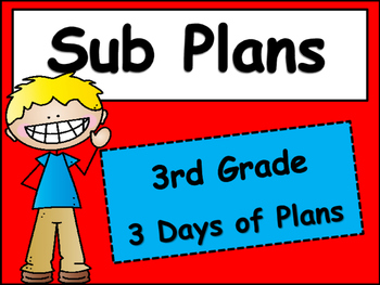 Substitute Plans for Third Grade
