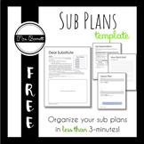 Sub Plans Template (Editable!)