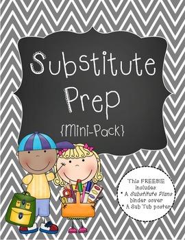Substitute Prep Mini Pack {Gray Chevron}