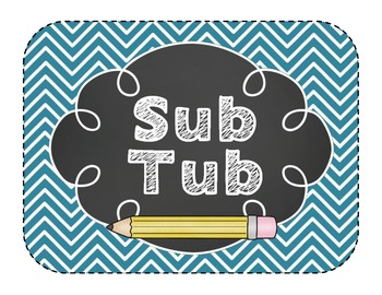 Substitute Prep Mini Pack {Teal Chevron}