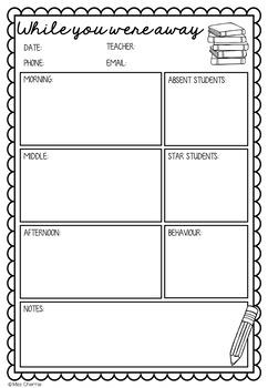 Substitute/Relief Teacher Feedback Form