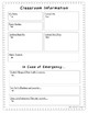Substitute Report Form Middle Grades