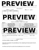 Substitute Report Sheets