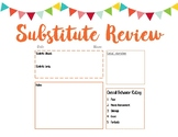 Substitute Review Sheet