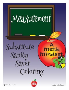 Substitute Saver: Measurement Coloring Worksheet