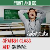 Substitute Plans Spanish