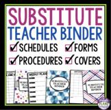 SUBSTITUTE TEACHER / SUPPLY TEACHER BINDER