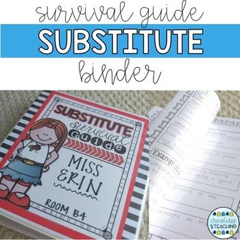 Substitute Survival Guide {Editable}
