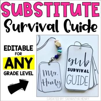Substitute Survival Guide (Editable) - A Quick Reference