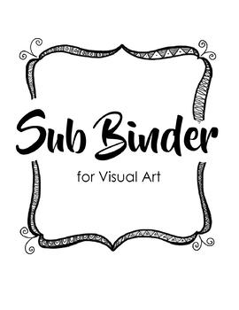 *12 Art Sub Lessons with Editable Sub Binder - Great for Distance Learning
