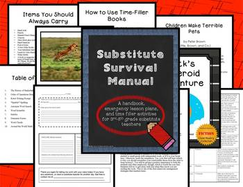 Substitute Survival Manual: Handbook, Lesson Plans, and Time Fillers for Subs