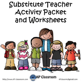 Substitute Teacher Activity Packet and Worksheets