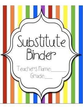 Substitute Teacher Binder!