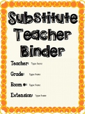 Substitute Teacher Binder