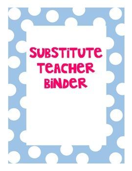 Substitute Teacher Binder Contents