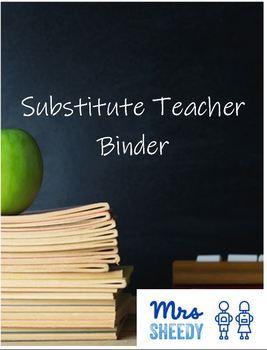 Substitute Teacher Binder Cover