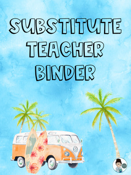 Substitute Teacher Binder Cover Page