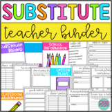 Substitute Teacher Binder {Editable}