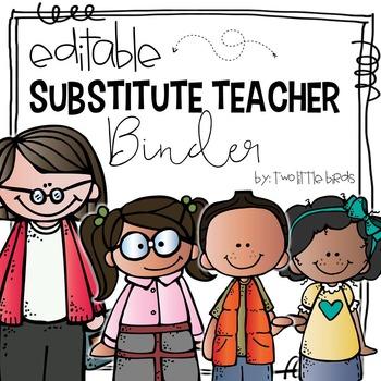 Substitute Teacher Binder-Editable