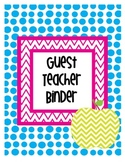 Substitute Teacher Binder FREEBIE